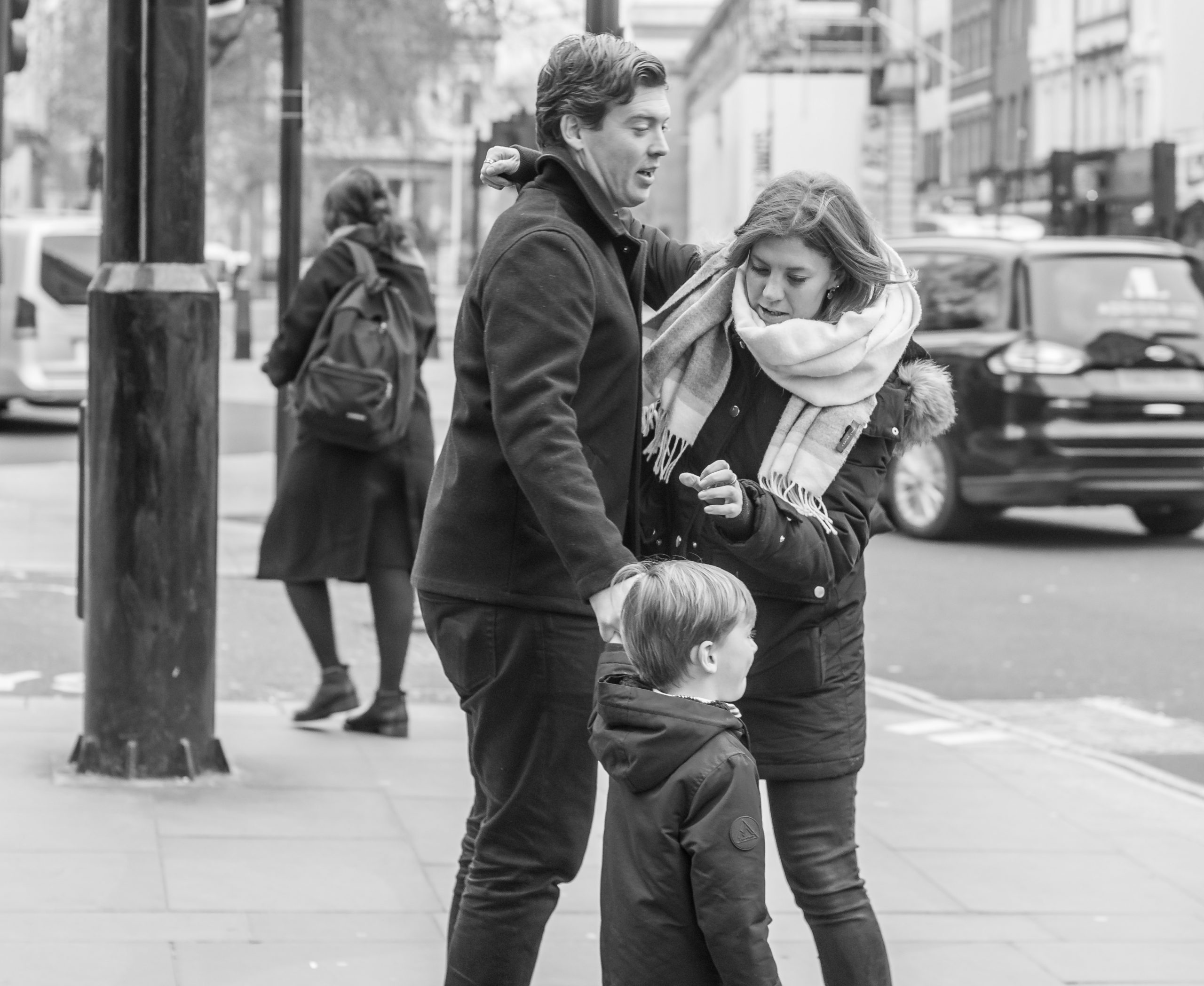 Street Photography couple and child